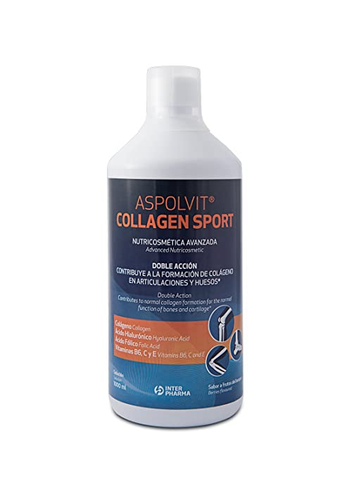 ASPOLVIT – Collagen Sport Complemento alimenticio para deportistas con colágeno para mejorar huesos y articulaciones –