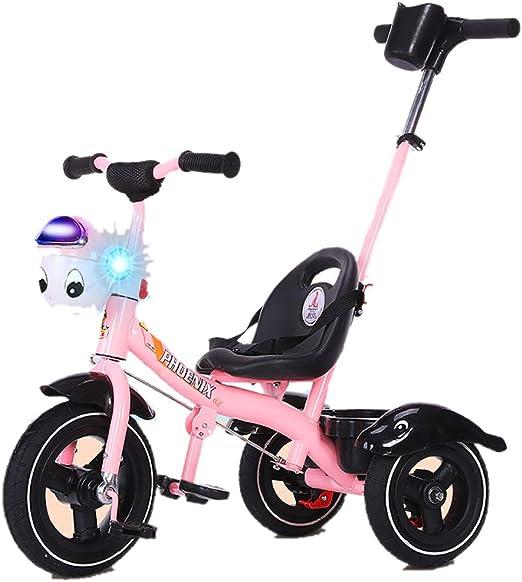 GUO@ Music Flash 3-En-1 Triciclo De NiñOs Triciclo De NiñOs De 3 Ruedas Espuma De NiñOs Triciclo Ride-On Carrito De Bebé con Manillar para Padres 1-3-6 AñOs Carrito De Bebé: Amazon.es: Hogar