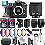 Holiday Saving Bundle for D7100 DSLR Camera + AF-P 18-55mm + 6PC Graduated Color Filter Set + 2yr Extended Warranty + 32GB Class 10 Memory Card + 16GB Class 10 - International Version