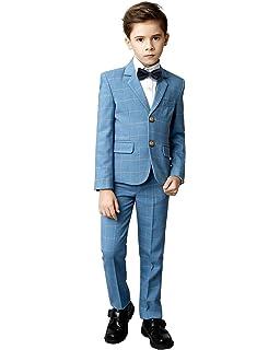 cc4b8f0aa Amazon.com  Yanlu 5 Piece Boy s Formal Suits Jacket+Vest+Pants+Shirt ...