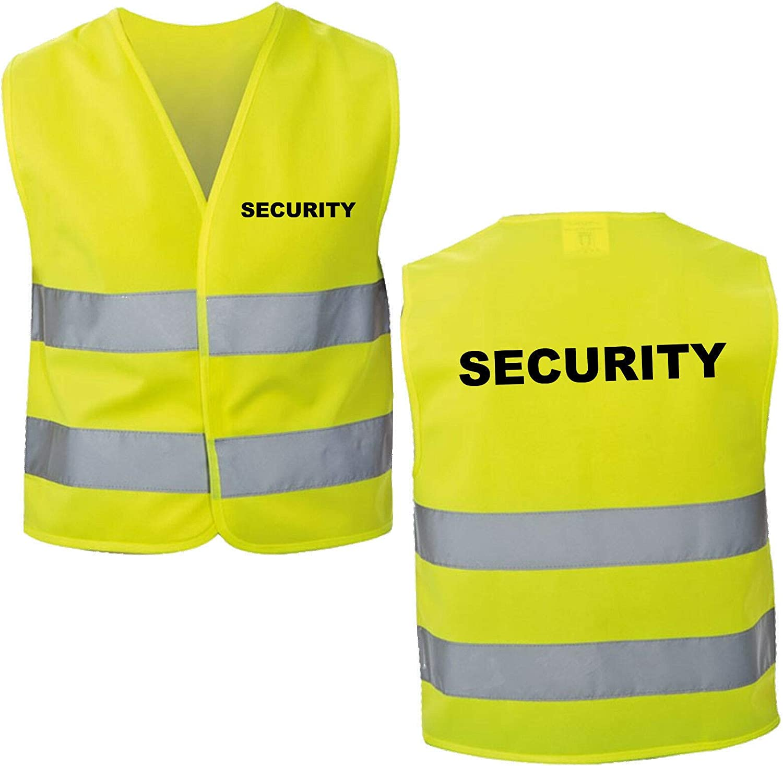 DGTextildruck Warnweste Security 1-5-10 St/ück.