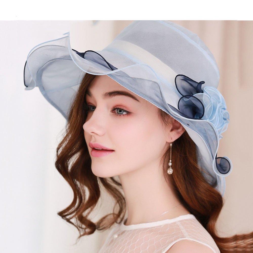 ced78ae54175e Zhou Yunshan Sombrero de sombrilla de Seda Femenina versión Coreana de la versión  Coreana de Protector Solar a lo Largo de la Doblez del Sombrero del Sol de  ...