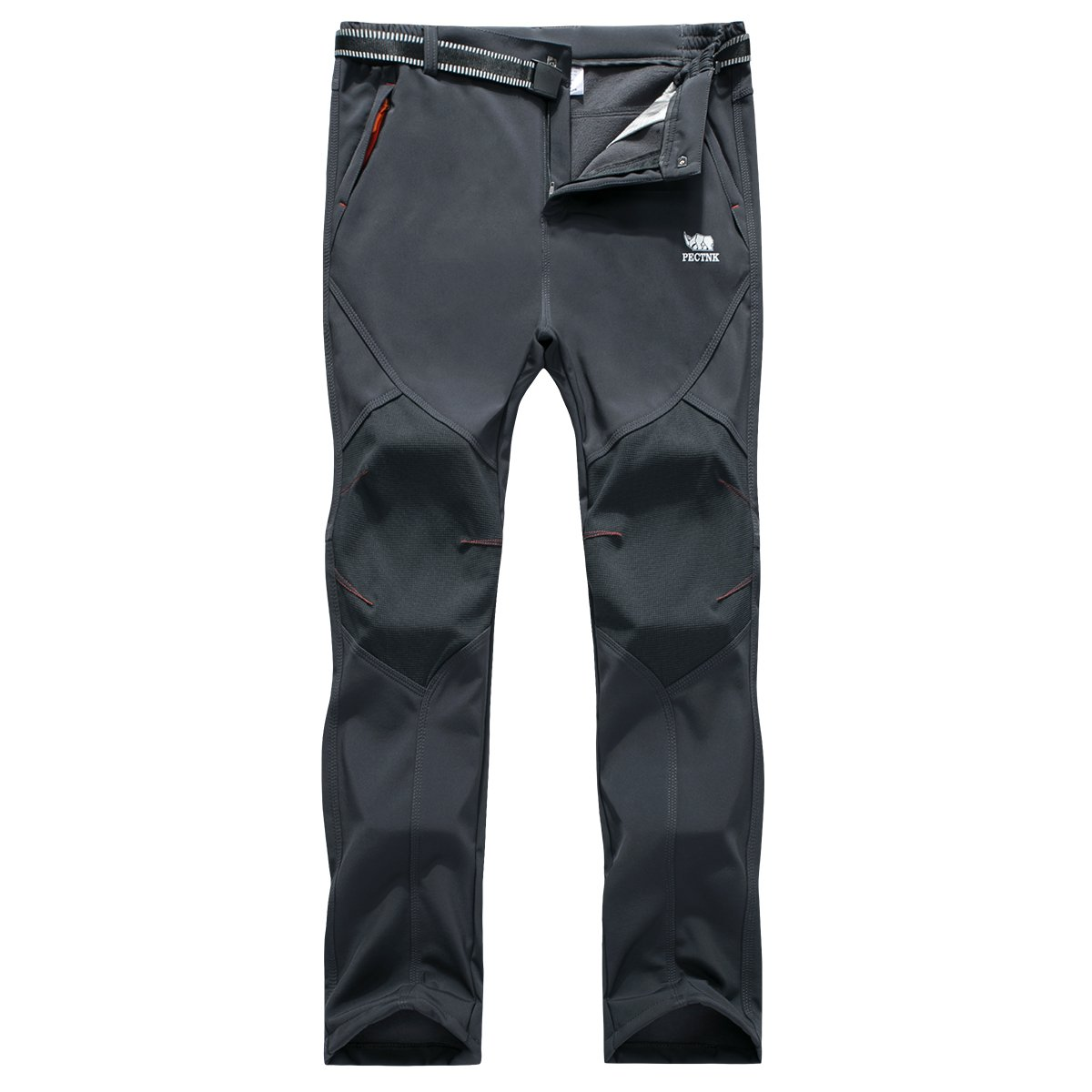 Los pantalones al aire libre de los hombres que son de fleece impermeable de c¨¢scara blanda PECTNK