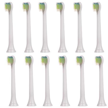 12 pcs (3x4) worldgen® Cabezales de recambio para cepillo de dientes eléctrico Philips Sonicare DiamondClean Mini (modelos HX-6074): Amazon.es: Salud y ...