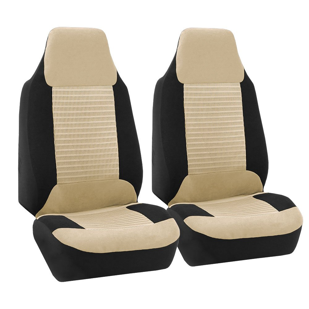 Premium Fabric Full Set Airbag Compatible Beige FH Group FB107BEIGE115 Seat Cover