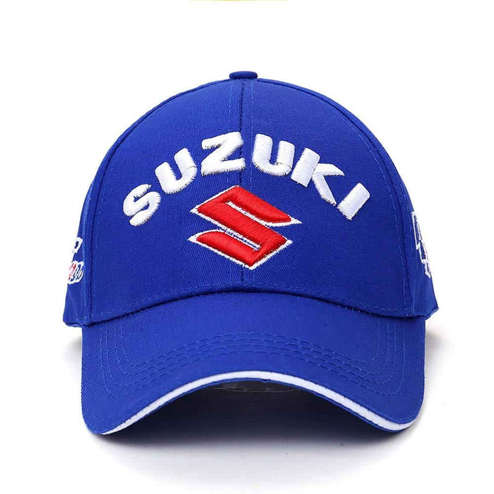 Color : Blue VIIMON Moto GP Moto Baseball Cap 3 D Broderie Suzuki Snapback Casquettes F1 Racing Cap /À Lext/érieur Sports Hommes Femmes Chapeaux