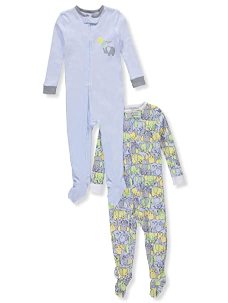 25879dec8a11 Amazon.com  Peas   Carrots Baby Boys  2-Pack 1-Piece Footed Pajamas ...