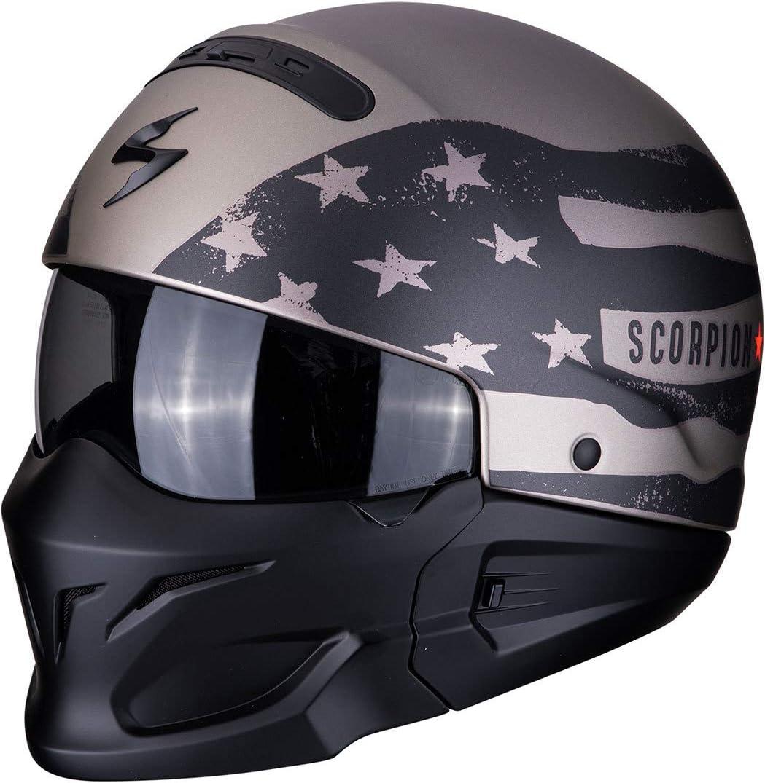 Scorpion 82 281 233 07 Exo Combat Rookie Titanium Grey Xxl Auto