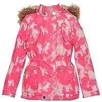 Urban Republic Big Girls Pink White Tie Dye Faux Fur Trim Hood Coat 16