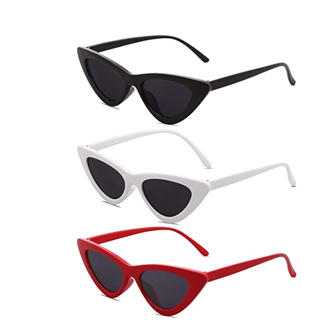 58cdcf4811 Set of 3 Clout Goggles Cat Eye Sunglasses for Women Vintage Mod Retro Kurt  Cobain Style