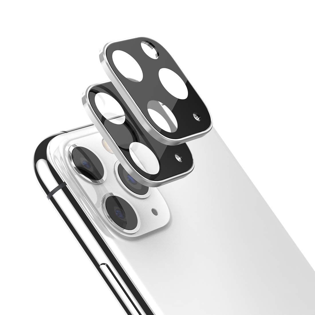 2 Vidrios Templados Para Camaras iPhone 11 Pro Max, Plateado