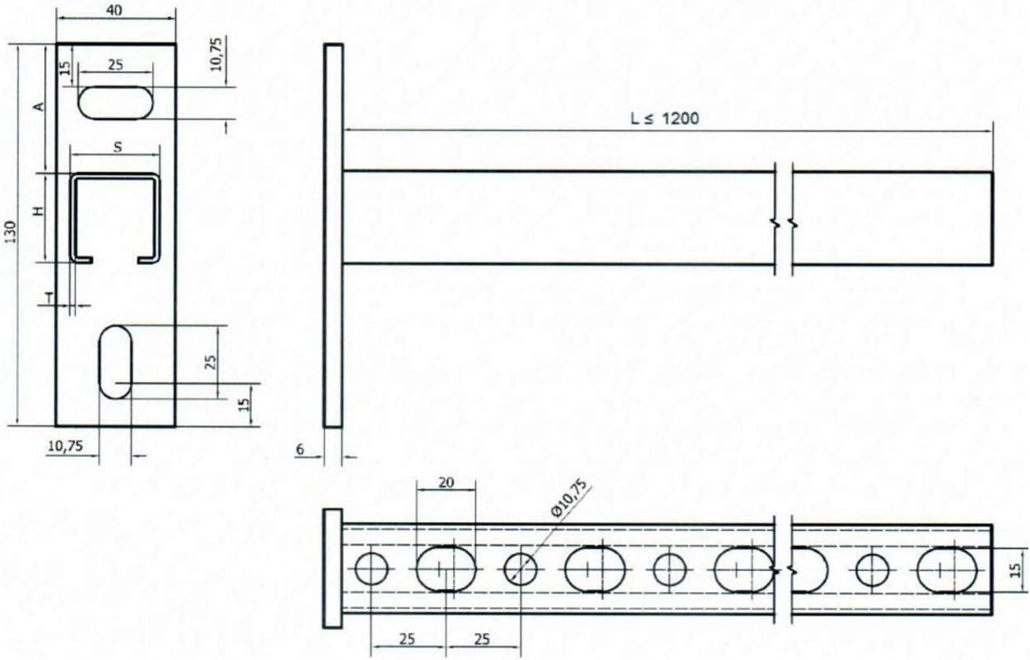 MKK 18067-001 Wandausleger Wandtr/äger Wandkonsole Winkel Schwerlasttr/äger Schwerlastwinkel 150 mm