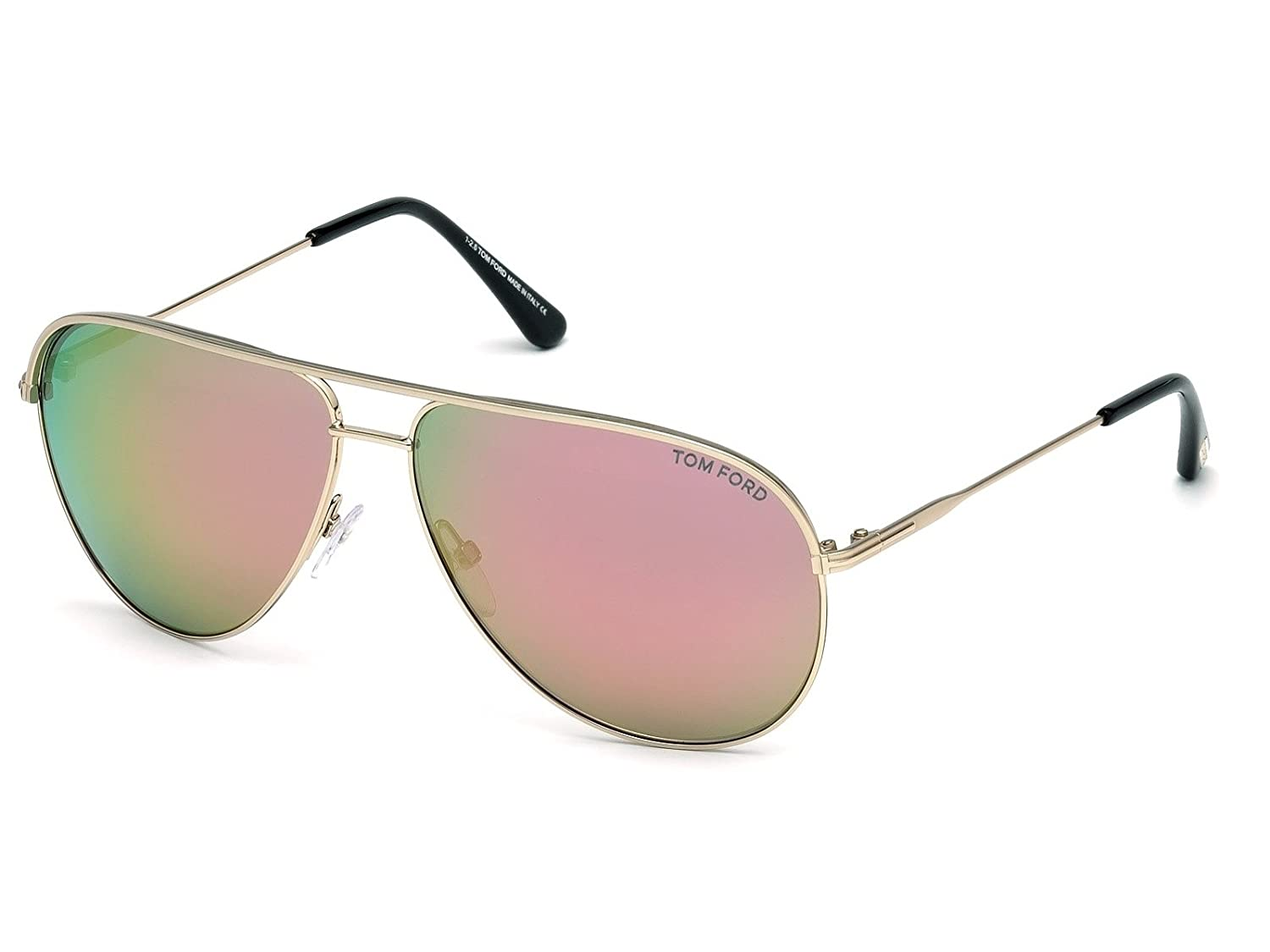 5d823c0965b1 Sunglasses Tom Ford ERIN TF 466 FT 29Z matte rose gold   gradient at Amazon  Women s Clothing store