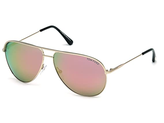 4cb3a7c6ec5 Sunglasses Tom Ford ERIN TF 466 FT 29Z matte rose gold   gradient at Amazon  Women s Clothing store