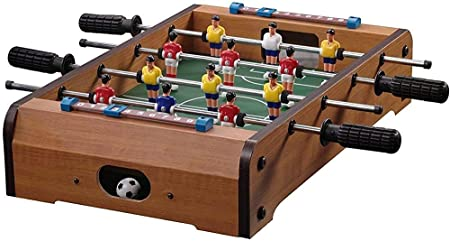 -11.3x4.6x3.4cm madera juego de fútbol de mesa - Mini mesa de futbolín,A: Amazon.es: Hogar