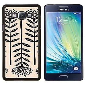 Stuss Case / Funda Carcasa protectora - Arte Flor Negro Blanco simplista - Samsung Galaxy A7 A7000
