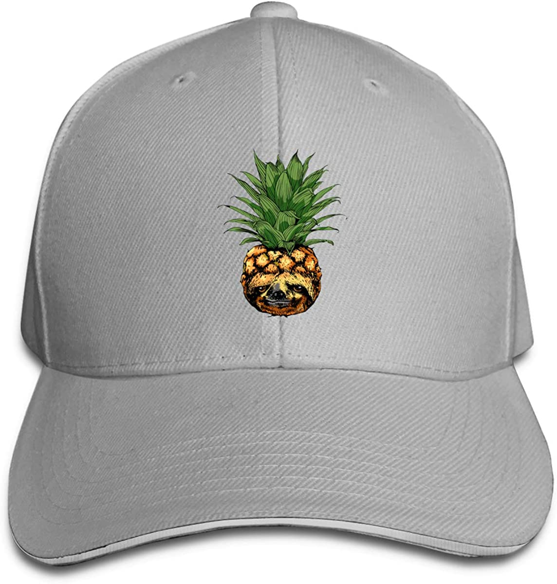 Pineapple Pug Logo Classic Adjustable Cotton Baseball Caps Trucker Driver Hat Outdoor Cap Gray