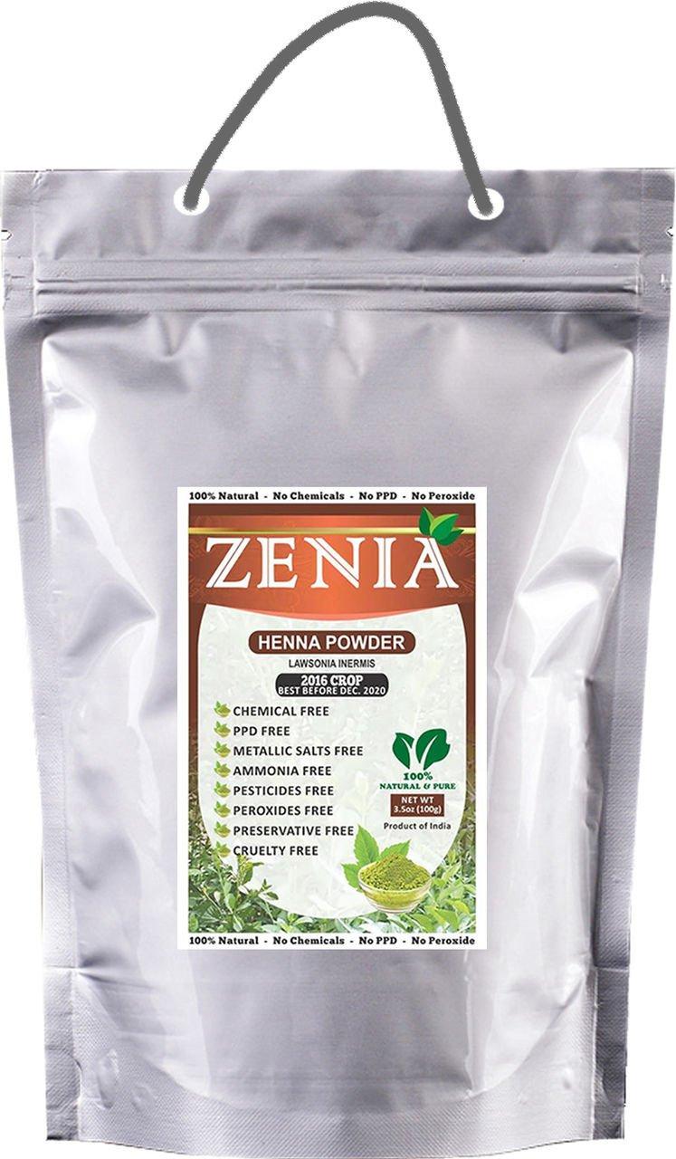 5000 grams Zenia Pure Henna Powder 100% Natural Organic BAQ by Zenia