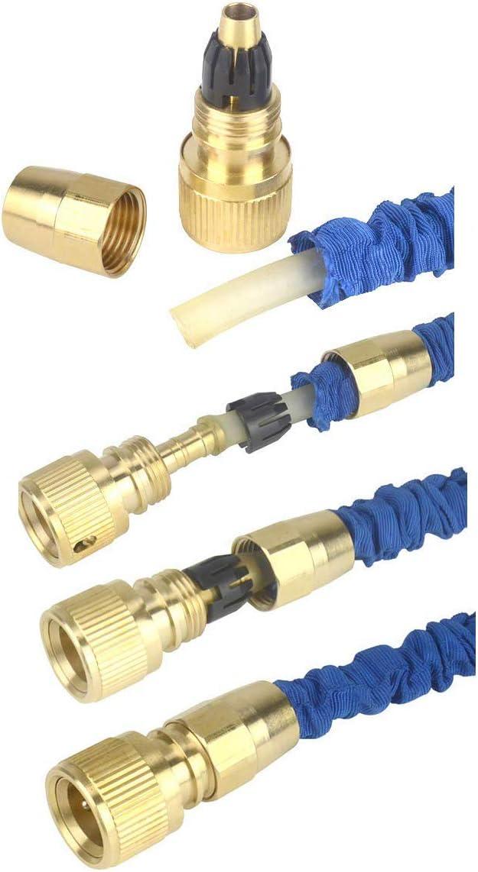Garden Water Hose Expandable Repair Kit Faucet Adapter Quick Connectors 4Pcs