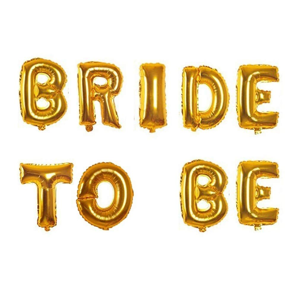 9PCS//Lot 40,6/cm rose Gold Bride to Be decorazioni con lettera palloncino foil Hen Party wedding Bachelorette party supplies