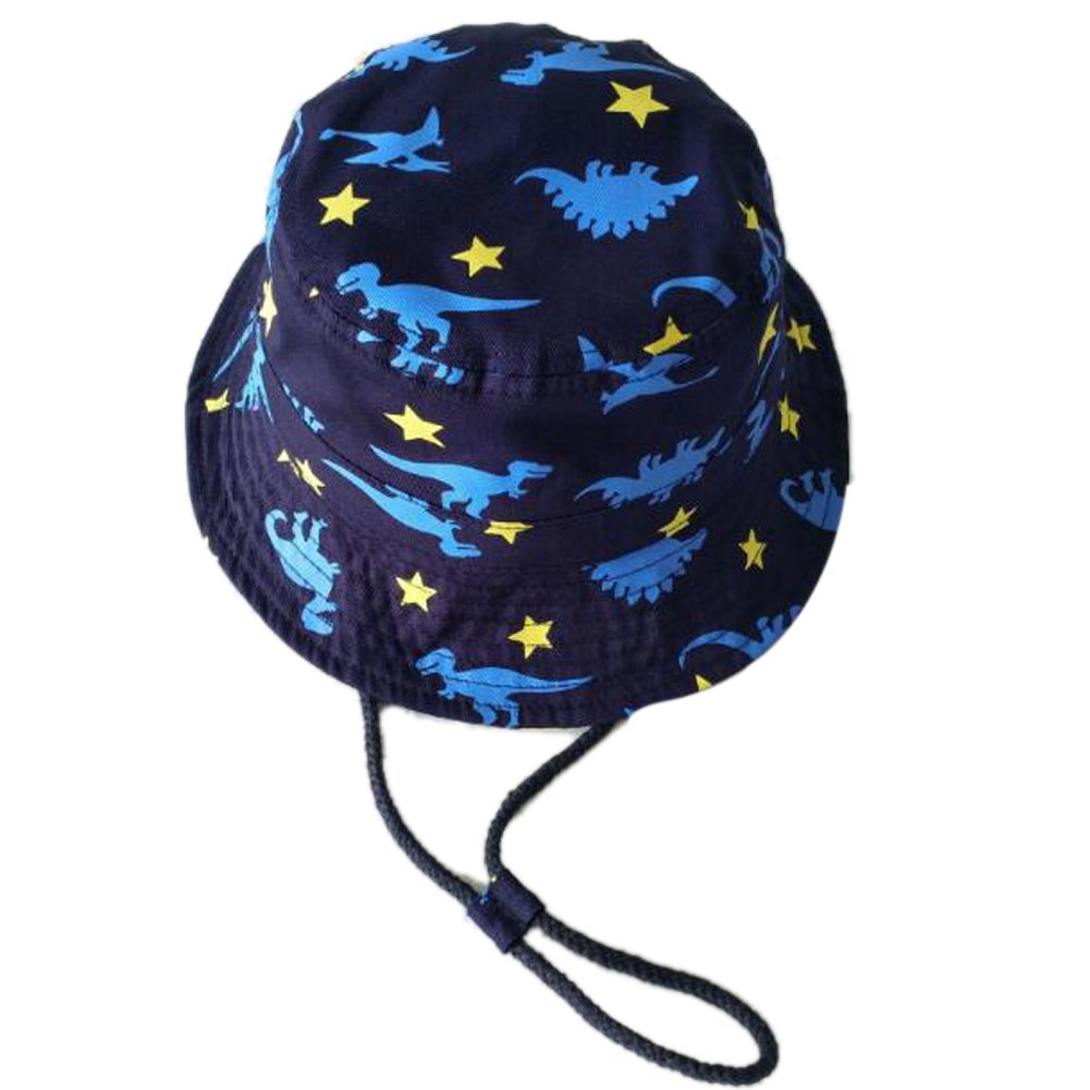 Summer Autumn Trend Breathe Cotton Outdoor Sun Bucket Crusher Fisherman Hat Difly/® Unisex Kids Cute Dinosaur Spring