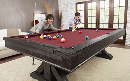Playcraft Brazos River 8 Slate Pool Table, Weathered Black