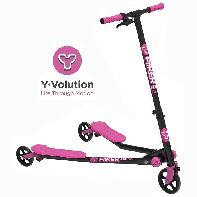 Yvolution Y Fliker Air Push Swing Scooter Winged Speeder Tri Wheel 3 Wheel Kick Scooter Carver Drifter for Boys/Girls / Children Kickboard - Multiple ...