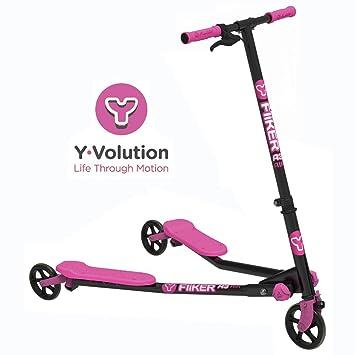 YVolution- Fliker A3 Patinete De 3 Ruedas, Color Rosa, M (100020.0)