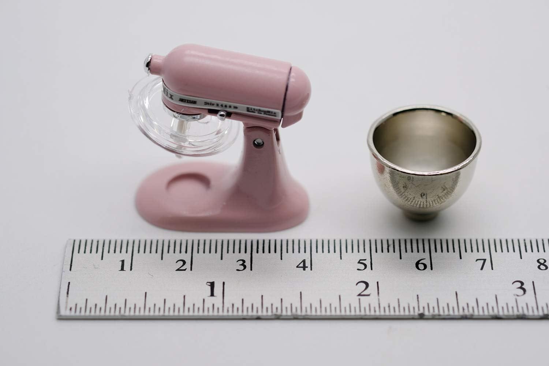 New ChangThai Vintage Pink Bread Dough Mixer Machine Dollhouse Miniature