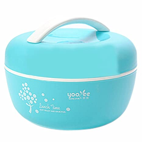 Amazon.com: Apple Creative Cute doble Lunch Box Microondas ...
