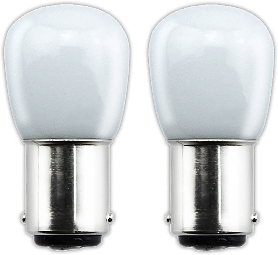 Bonlux 2-packs 1.5W 220V BA15D LED Bombilla para la Iluminación de Máquina de Coser, El Refrigerador con 70 Lúmenes, Reemplazo de 15W(Luz Fría 6000K)