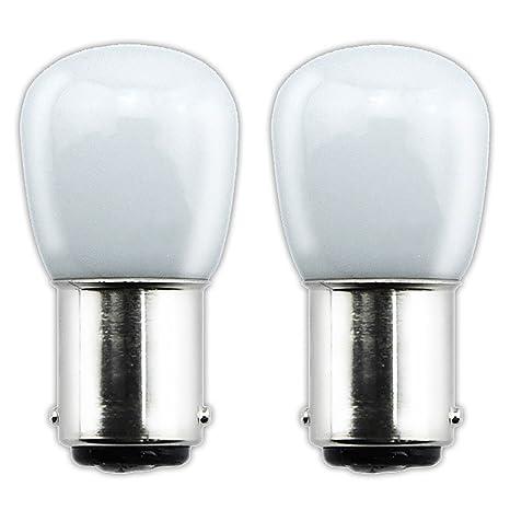 Bonlux 2-packs 1.5W 220V BA15D LED Bombilla para la Iluminación de Máquina de