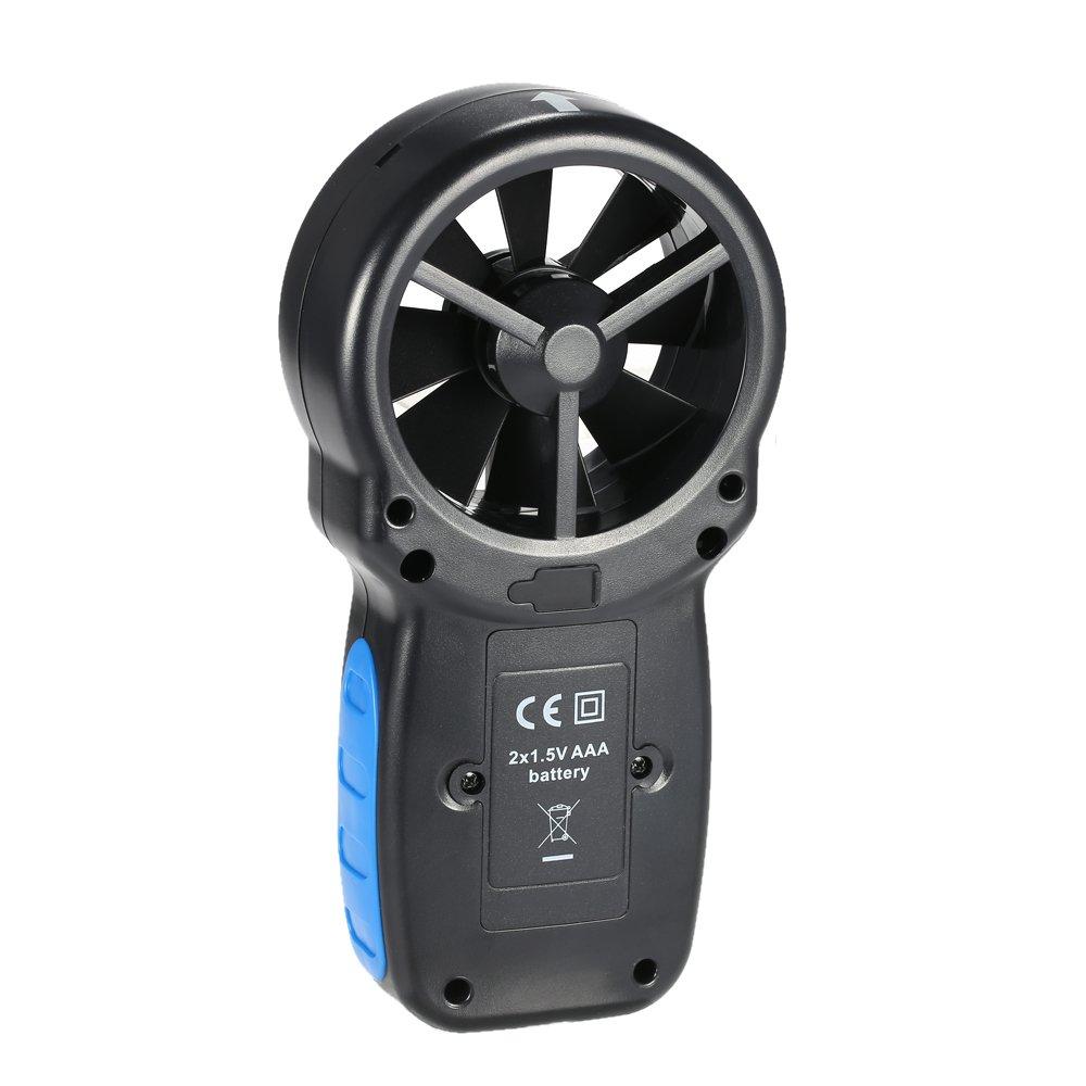 KKmoon HP-866B Anemómetro Mini Lcd Digital Viento VelocidadAire Velocidad Templar