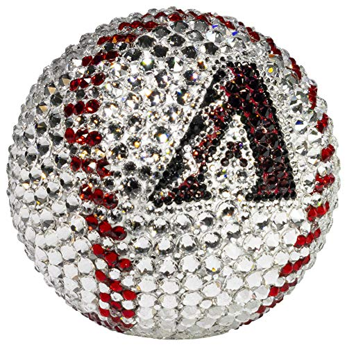 Rock On Sports Swarovski Crystal, Offically Licenced MLB Arizona Diamondbacks Baseball, Custom & Handmade Collectible, Sports Memorbilia