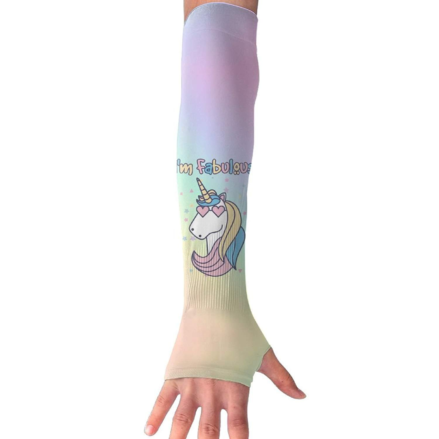 Unisex I'm Fabulous Unicorn Sense Ice Outdoor Travel Arm Warmer Long Sleeves Glove