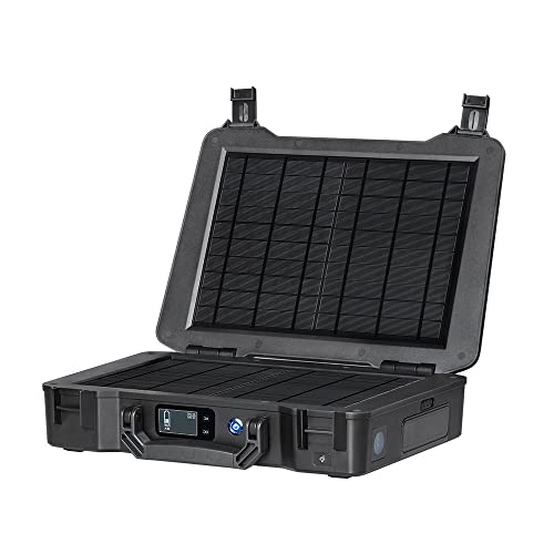 side facing renogy phoenix 210Wh solar suitcase