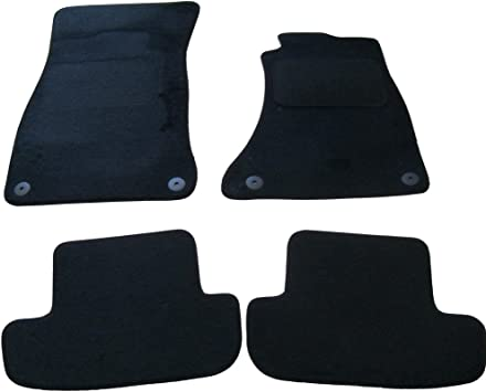 Black Heel Pad Car Mats to fit A5 // S5 Coupe 2007-2016 Charcoal Carpet Black Trim 42 Heavy Duty Rectangle Heel Pad