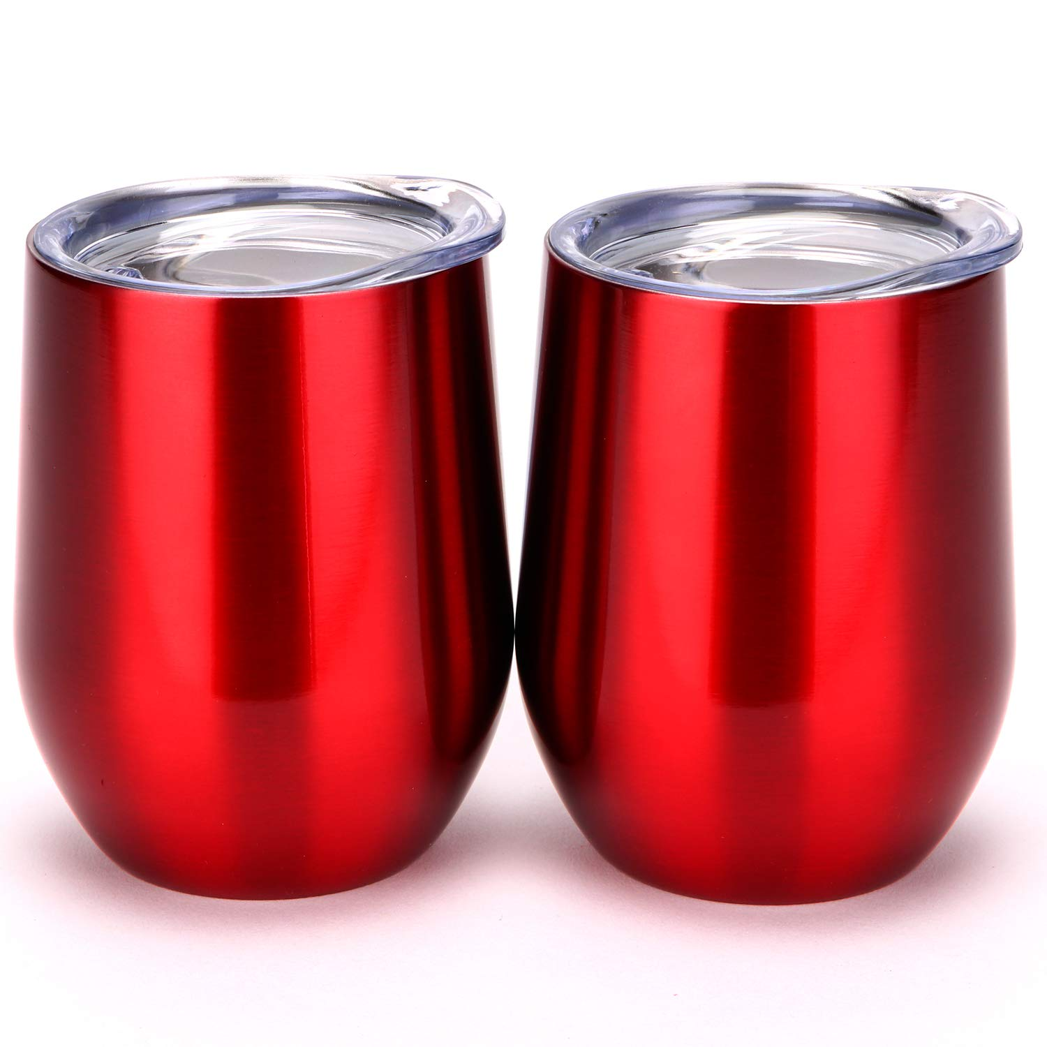 2PACK 12 oz Insulated Stemless Glass,Stemless Wine Glass,Wine Tumbler, Exclusive for Home, Office,Perfect for Wine,Coffee, Drinks,Champagne,Cocktails