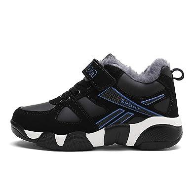 baskets pour pas cher 5d457 8761e H-Mastery Chaussure Hiver Garcon Fille Botte de Neige Enfants Baskets  Chaudes Fourrées Sport Sneakers