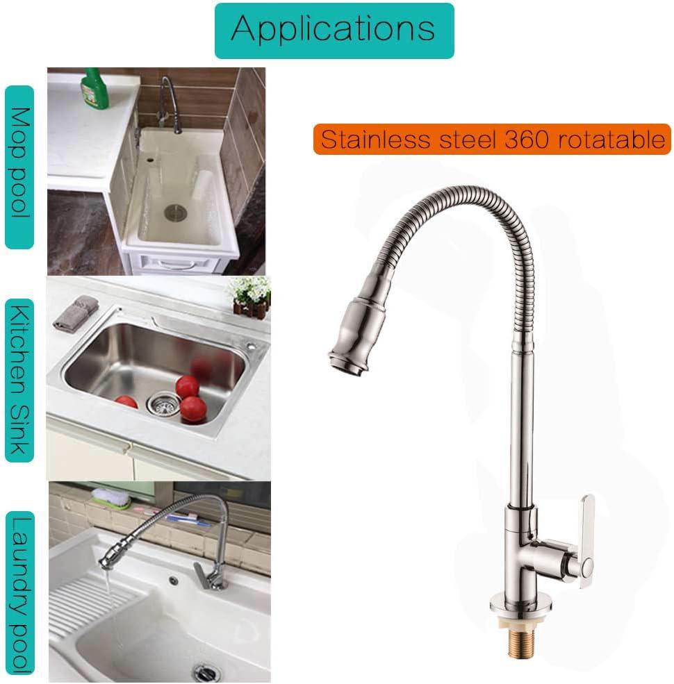 360 Rotatif Robinet de cuisine /évier de cuisine robinet mitigeur bar Robinet avec col flexible