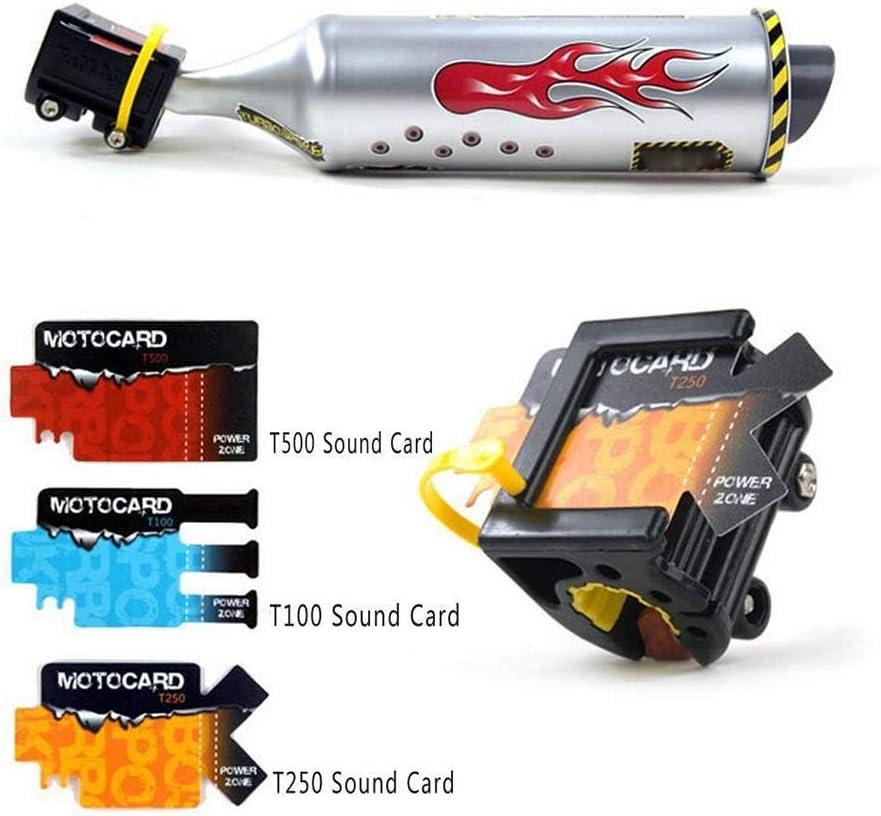 Romote 1 St/ück Motorrad Auspuff Fahrrad Auspuff-Sound-System Mini Carbon-rund Schalld/ämpfer Auspuff Motorrad-ger/äusch-Hersteller Radfahren Zubeh/ör