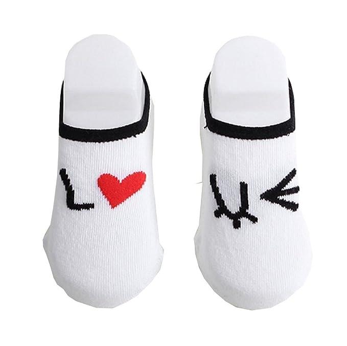 Calcetines antideslizantes - Bebé - Escrito - Te amo - I Love You - Bebé - Niñas - Unisex - Idea de regalo -: Amazon.es: Ropa y accesorios