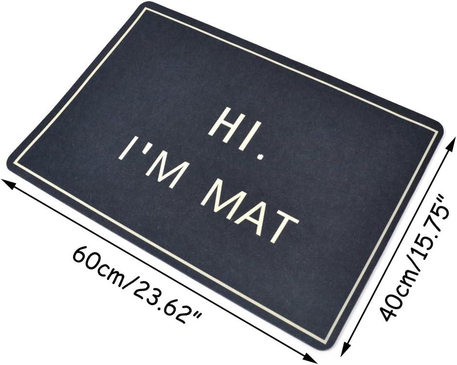x 15.7 #1 L Pinji Funny Doormat Non-Slip Rubber Door Mat Kitchen Hallway Entry Rugs 23.6 W