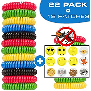 CASELAST Premium Mosquito Repellent Bracelets - 22 Pack - DEET-FREE Natural Wristbands - Protection Against Mosquitoes and Insects - Pest Control Repeller