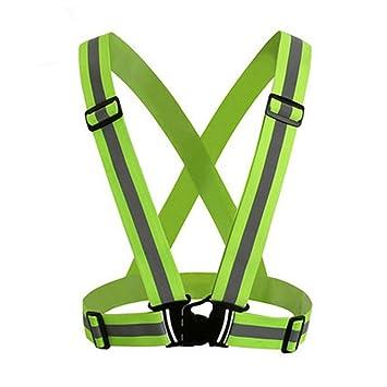 WONG_Cinturón de alta visibilidad reflectante chaleco de seguridad ...