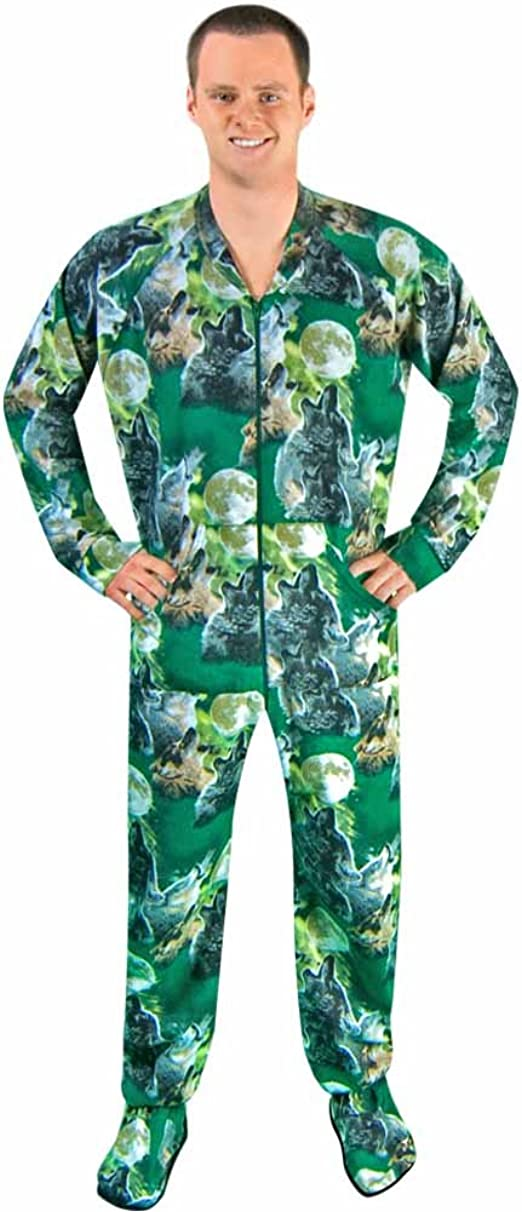 Amazon.com: Adult Footed Pajamas with Butt Flap Bears in