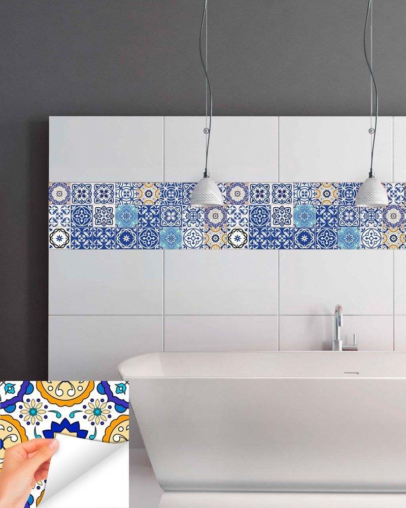 Amazon.com: Tile Stickers 24 PC Set Authentic Traditional Talavera ...