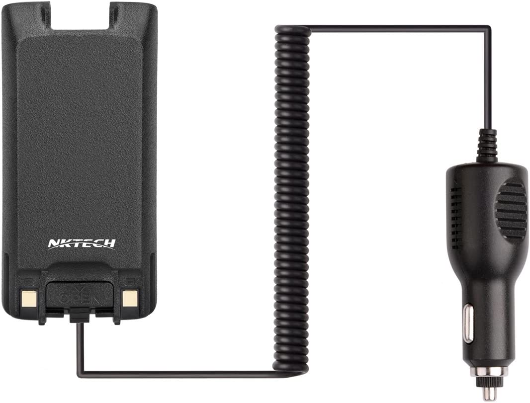 NKTECH LB-75L Car Charger Battery Eliminator for TYT Tytera MD-390 MD-390GPS Digital Mobile Radio DMR Two Way Radio Transceiver