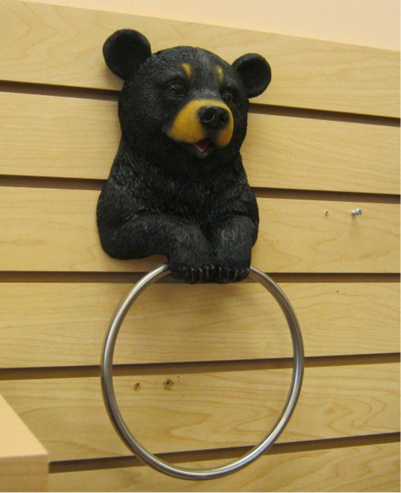 Hugo The Helper Black Bear Towel Holder Bathroom Decoration New   eBay