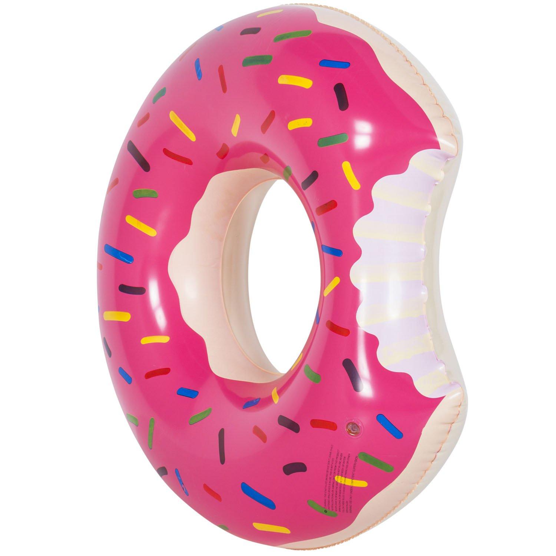 Flotador en forma de donut, hinchable, 120 cm, marrón, 100 ...